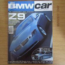 BMW CAR Magazine November 1999 ~ Z9 ~ AC Schnitzer S3 E46 ~ Alpina B6 3.5S E30