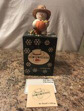 "Sarah's Attic Snowonders November ""Leif"" Thanksgiving Pilgrim Pumpkin Reg. Card"