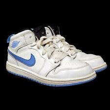 Nike Jordan 1 Mid BP 2Y Youth White Legend Blue Black Sneakers Shoes 640734-127