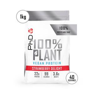 PhD Nutrition 100% Plant Protein 1kg Vegan (Choose flavour)