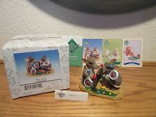 Charming Tails Limited Edition Two Love Figurine with Sports Trading Cards