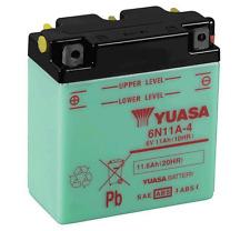 ORIGINALE YUASA 6N11A-4 6V Motocicletta Batteria PIAGIO VESPA SCOOTER