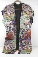 Double Zero Paisley Kimono Vest Topper Kimono Open Front Women's Size S Small