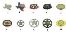 Bull Longhorn Lonestar Deputy Sheriff Chief Badge Belt Buckle Western Cowboy Cop