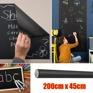 Large Chalkboard Wall Sticker Vinyl 6.5ft Blackboard Chalk Board Decal Removable