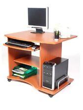 Scrivania porta pc ciliegio In Legno Mod.smarty Con Ruote carrello pc computer