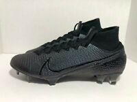Nike Mercurial Superfly 7 Elite FG Black Soccer Cleats AQ4174-010 Men's Size 9