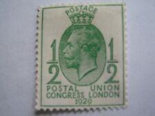 UK Great Britain 1929 N°170  Half Penny Vert  Postal Union Congress London