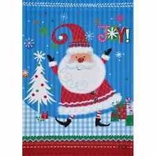 "JOY SANTA 12.5"" X 18"" GARDEN FLAG 11-2831-128 RAIN OR SHINE CHRISTMAS SEASONAL"