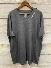 "Ecko Unltd Tee Shirt Mens 3XL Gray (54"" Chest) Marled V Logo Neck T Shirt New"