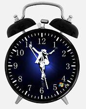 "Michael Jackson Alarm Desk Clock 3.75"" Room Decor X38 Nice for Gifts Wake Up"