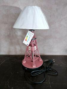 Lampe balise marine en métal, neuve avec abat jour, hauteur 41cm