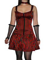 Phoenixx Risng Macahel Grey And Black Striped Stripey Tights 75 Denier One Size