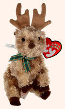 TY RUDY the REINDEER JINGLE BEANIE BABY - MINT with MINT TAGS