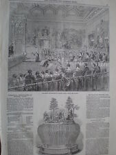 Theatre at Windsor Castle for Queen Victoria 1849 old print my ref T