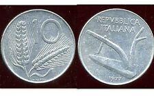 ITALIE  ITALY  10 lire 1977