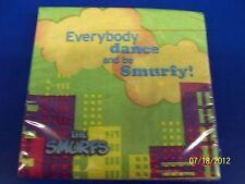 RARE Smurfs Movie Animated Cartoon Kids Birthday Party Paper Beverage Napkins