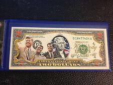 USA $2 Dollar Bill President THE KENNEDY FAMILY (JFK/RFK/TED) U.S. LEGAL TENDER