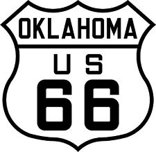 PREMIUM Autoaufkleber Route 66 USA Oklahoma Sticker Aufkleber Auto Styling Biker