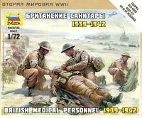 Zvezda 1/72 6228 WWII British Medical Personnal 1939-1942 (4 Figures)