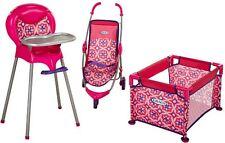 Baby Doll Playset Graco Room Full Of Fun Girls Play High Chair Playpen Stroller