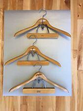 "Lot of 3 Vintage Regent & Setwell Wooden Hangers - Suit Coat Jacket Pant 17.5"""