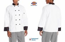 Dickies Chef 10 Button Chef Coat with Black Buttons Unisex Chef Jackets Dc120