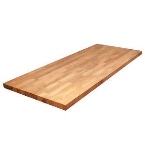 Massivholzplatte Eiche L1.2m-4m B620mm-960mm T27mm-40mm, Massive Küchenplatte