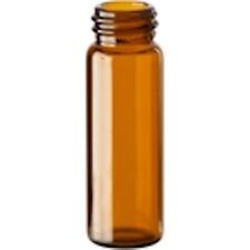 144 Pcs Amber 1 Dram Glass Vials Withscrew Cap 15mmx45mm