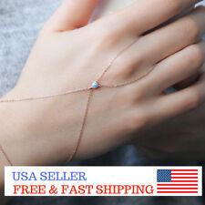 Sterling Silver Lucky Long Blue Evil Eye Slave Chain Bracelet Necklace 4 mm Boho