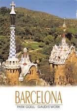 Spain Barcelona Park Guell Gaudi's Work Vista de Parcial