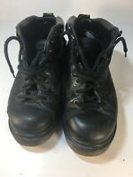VTG Dr Martens Boots Black UK Sz 7 Leather Air Wair Hiking Lace Up England 8287