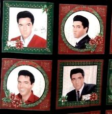 Elvis Presley Christmas Pillow Panel VIP Cranston Fabric   New   4 Christmas