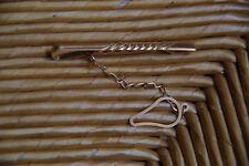 Krawattennadel Krawattenspange Krawattenklammer Gelbgold 585 14K wenig getragen