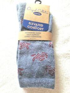 Women's Dr Scholl's Elevated Comfort Blue Floral Socks
