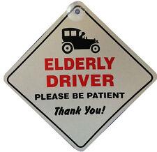 Controlador de edad avanzada por favor sé paciente insignia de Ventana de Coche Vehículo Adhesivo lechón signo