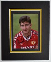 Norman Whiteside Signed Autograph 10x8 photo display Manchester United & COA
