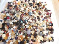 VINTAGE Large Lot of Assorted Plastic Buttons