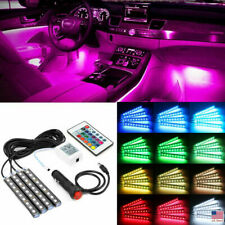 RGB LED Glow Interior Car Lamp Kit Under Dash Foot Well Seats Inside Lighting US