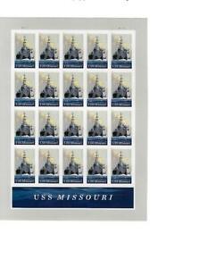 US SCOTT 5392 PANE OF 20 USS MISSOURI STAMPS FOREVER MNH