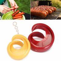 2Pc/set Creative Plastic Spiral Hot Dog Sausage Cutter Slicer Kitchen Gadgets