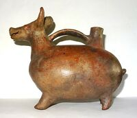ART PRECOLOMBIEN VICUS - 500 BC / 200 AD PRE-COLUMBIAN zoomorphic vessel