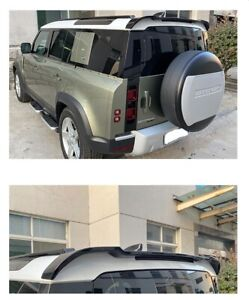Roof Spoiler Wings Rear For Land Rover Defender 2020 2021 OE STYLE Glossy Black