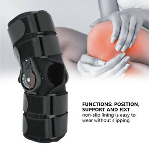 Adjustable Breathable Knee Support Arthritis Joint Pain Relief Fixed Brace Black