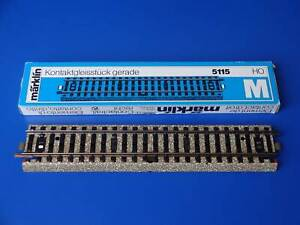 MARKLIN H0 - 5115 - STRAIGHT TRACK CONTACT SECTION for 7192 - M Track (90) / BOX