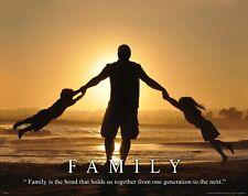 Family Bond Religious Inspirational Motivational Poster Art Print Church  MVP600
