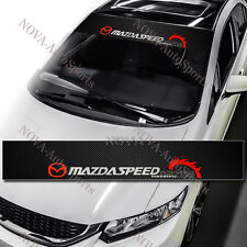 MAZDASPEED Windshield Carbon Fiber Vinyl Banner Decal Sticker 4 Mazda Speed 53""