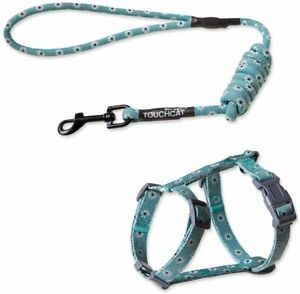 Durable Cat Harness and Leash Combo by Touchcat Light Green 10 mm