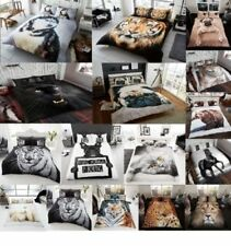 3D Animal Luxurious Faux Fur Throws Soft Warm Cosy Bed & Sofa Fleece Blankets GC