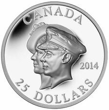2014 $25 .9999% Pure Silver Coin 75th Ann. of the First Royal Visit to Canada